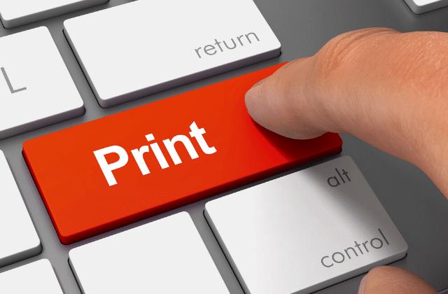כפתור הדפסה