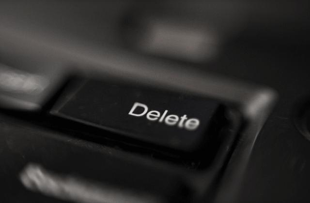 כפתור מחיקה (DELETE)