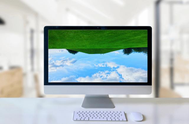 מסך מחשב הפוך, איך להפוך את המסך במחשב