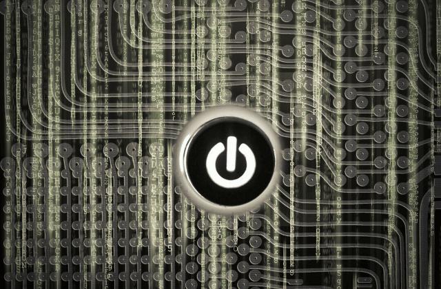 כפתור כיבוי במחשב