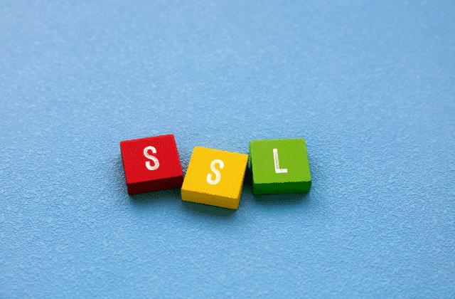 המילים SSL על קוביות