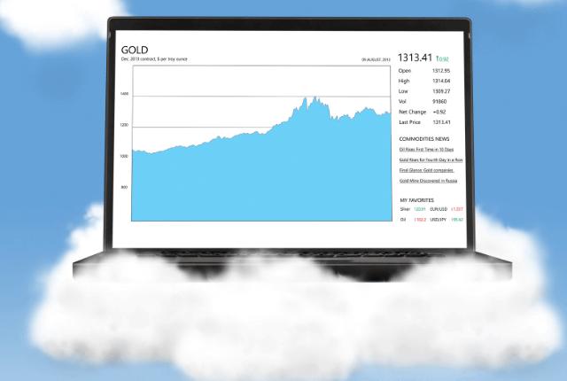 מחשב עם טכנולוגיות ענן