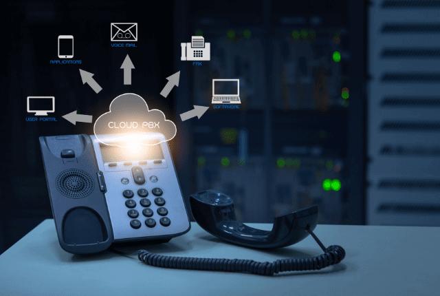 קו טלפון המחובר לטלפוניה בענן